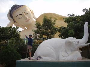 Bago's outdoor reclining Buddha