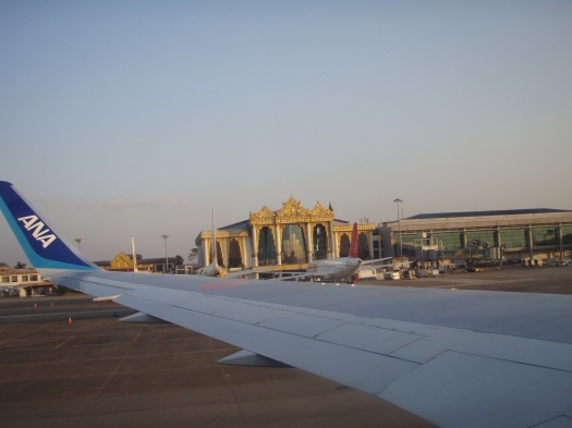 Arriving at Yangon International Airport January 13 2014